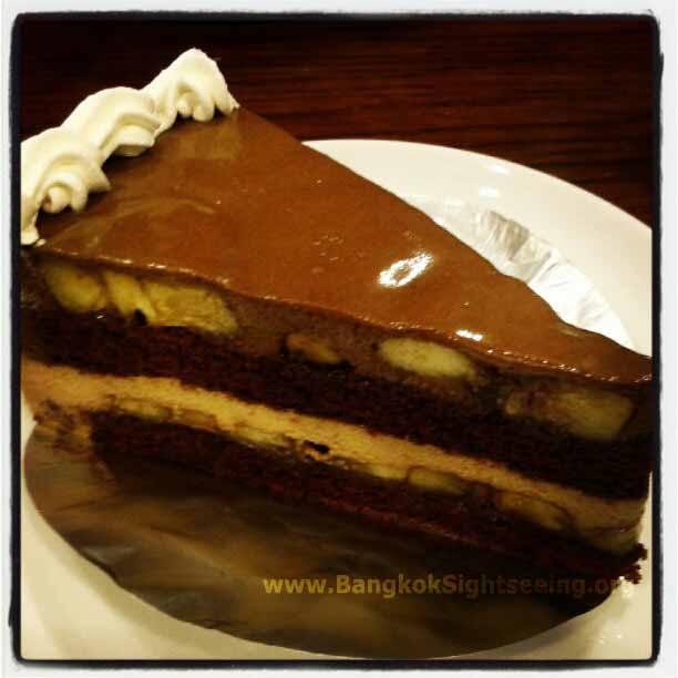 Amor Bangkok Banana Chocolate Cake