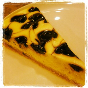 Blueberry Cheese cake by Amor Bangkok