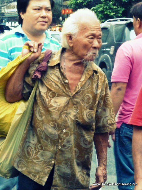 old Asian man in Bangkok