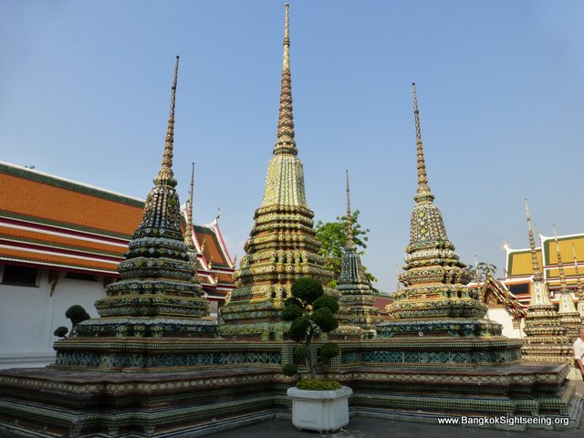 Stupas at the Wat Po temple